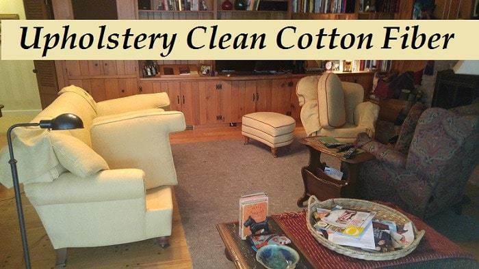 Upholstery cleaning cotton