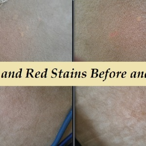 bleach and kool aid stains repaired before after