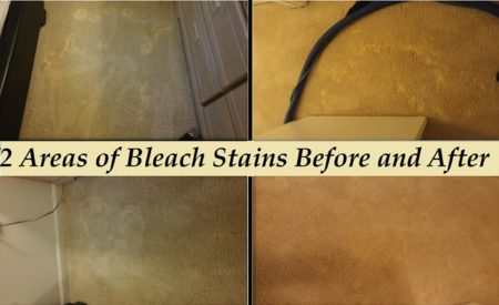 bleach stains before after