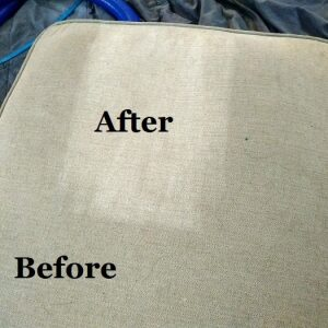 cushion sample before after clean