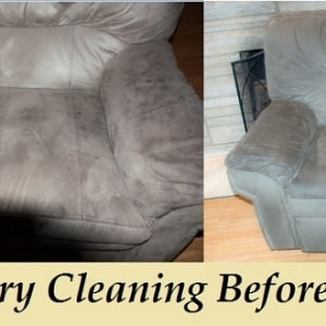 Recliner Cleaning before after