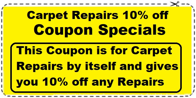 Carpet Repairs coupon save 10%