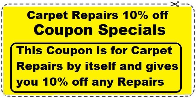 Carpet Repairs coupon save 10%