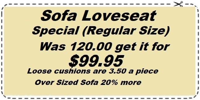 sofa loveseat special