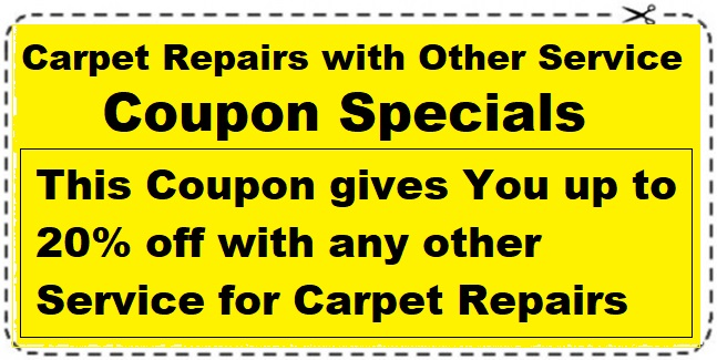 Carpet Repairs coupon save 20%