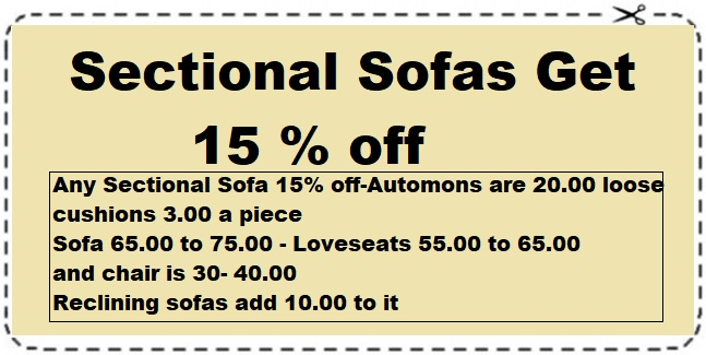 sectional sofa 15% off
