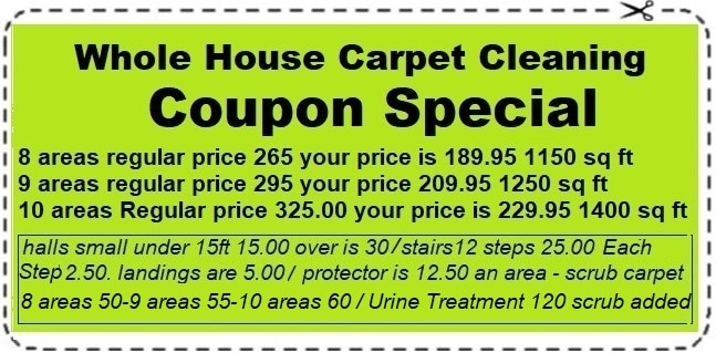 whole house carpet clean coupon special