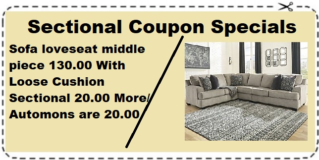 Sectional Coupon Special