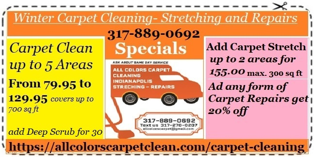 winter coupon carpet clean stretch and repairs