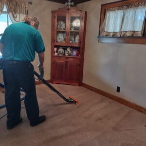 carpet cleaning after scrubbing